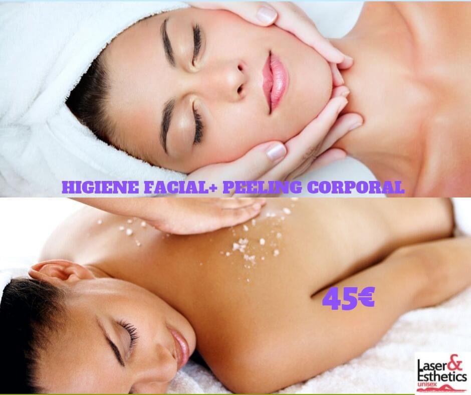 higiene facial y peeling